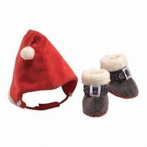 Gund Whimsy Wishes Santa Booties and Hat Gift Set